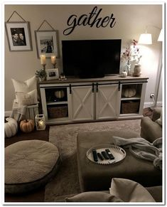 If you are looking for Farmhouse Living Room Tv Stand Design Ideas, You come to the right place. Here are the Farmhouse Living Room Tv Stand . Design Living Room, Living Room Tv, Small Living Rooms, Apartment Living, Home And Living, Living Room Furniture, Tv Stand Ideas For Living Room, Cozy Apartment, Modern Living