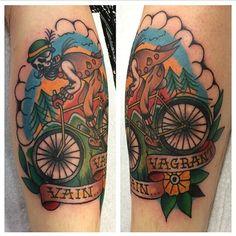 Ed Oxley - The vain vagrant tattoo.