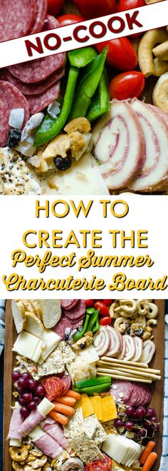 When it's too hot cook, serve up this stunning and versatile summer charcuterie board with Meats and Cheeses! Best Cheese, Meat And Cheese, Slow Cooker Recipes, Crockpot Recipes, Charcuterie Board, Popular Recipes, Fruits And Veggies, Dinner Recipes, Good Food
