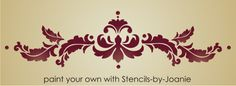 Leaf Scroll Designs | French Acanthus Leaf Scroll Stencil Pictures