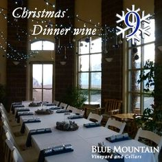 """To celebrate a great year we're toasting with a days of Christmas"""" giveaway! We will feature one Blue Mountain wine or gift for each of the next 12 days along with the perfect holiday occasion to enjoy them or ideas on who to share them with. Christmas Giveaways, 12 Days Of Christmas, Blue Mountain, Wine, Outdoor Decor, Holiday, Blog, Vacations, Holidays"""