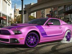 purple mustang super snake 2015