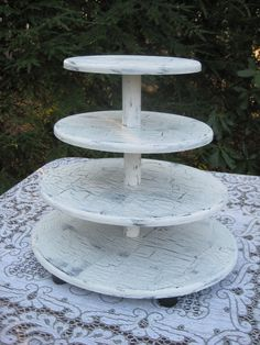 Shabby Chic Oval Cupcake Stand Wedding Decor by YourDivineAffair, $74.95