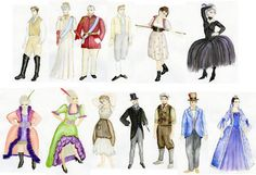 Costume rendering for Cinderella designed by Jess Fialko.
