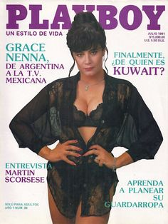 Playboy (Mexico) July 1991  with Grace Nenna on the cover of the magazine