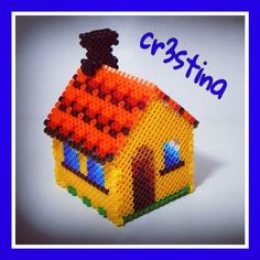 3D House hama beads by cr3stinayoutube