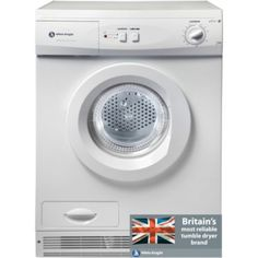 White Knight 77AW Condenser Tumble Dryer, 7kg, C Energy Rating, White