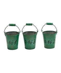 Green Distressed Bucket Set @zulily; $14.99 Because you love to snip fresh herbs in your kitchen window...
