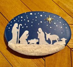 The nativity, baby Jesus our savior was born. #justdarlicious #babyjesus #nativity #natavityscene #stencil #jesusisthereasonfortheseason…