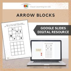 This digitally interactive resource is designed for use with Google Slides. This resource contains 10 slides in total. Answer sheets are included.The student must drag the red crosses to all the blocks that contain an arrow that is pointing in the direction specified in the instruction.