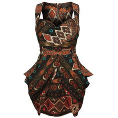 Abi Midi-African Print Skirt ❤ liked on Polyvore featuring skirts, brown cotton skirt, cotton midi skirt, mid calf skirts, midi skirt and brown skirt