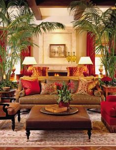 Traditional (Victorian, Colonial) Living Room by Timothy Corrigan ...
