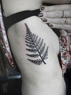 #tattoo #fern #black #ink #lucianodelfabro