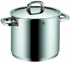 WMF Premium One 9-1/2-Quart Stock Pot with Lid by WMF. $190.00. Look for an assortment of coordinating open stock pots and inserts to create a matching Premium One set. Designer Peter Ramminger; Made in Germany. Lids feature vents for proper steam release. 18/10 Cromargan stainless steel construction with innovative world-wide patent pending Cool and handle design. TransTherm universal base ensures optimum heat distribution and heat retention; Safe for all cooktops, incl...