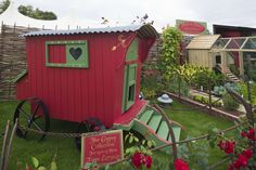 FlytesoFancy Gypsy chicken wagon/coop at the RHS Hampton Court Palace Flower Show