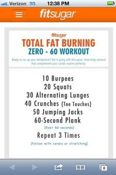 Effective Workout Circuit - sounds like a killer workout!