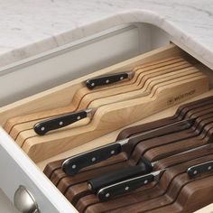 50 Useful Kitchen Gadgets You Didn't Know Existed In Drawer Knife Organizer listotic.com Available on Amazon