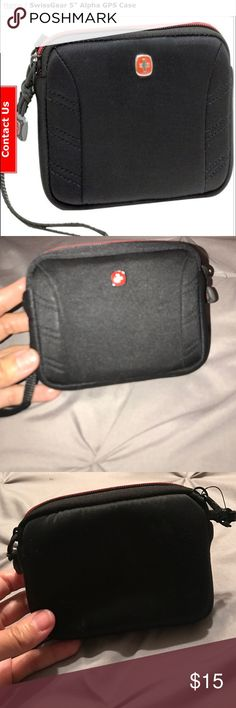 """Swiss Army Gear GPS or Camera Case Pre-owned. Padded protection fits screens up to 5"""". Lightweight and durable Neoprene exterior. Screen protector. Removable wrist strap. Zippered closure. Swiss Army Accessories Tablet Cases"""