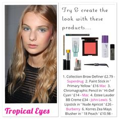 ' #tropical #eyes ' were seen @alexismabille for the #ss16 #runway #show - get all the #details and links in my bio  #bright #brighteyes #eyemakeup #runwaylook #designer #fashionista #fblogger #accessorize #beauty #beautify #bblogger #hair #makeup #effortless #waves #cosmetics #alexismabille #pearlsandvagabonds