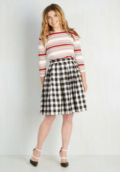 First Edition Fanatic Skirt. While adorned in this plaid separate, you scour the dusty shelves of an antique mall, gleefully uncovering a premier edition of your favorite novel! #multi #modcloth