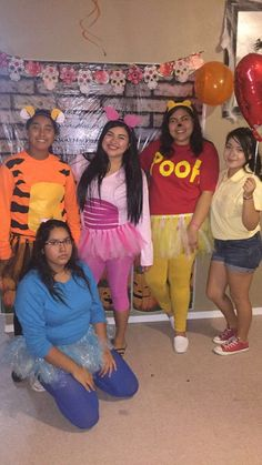 Throw back thursday halloween style pinterest halloween diy diy winnie the pooh group costume solutioingenieria Images