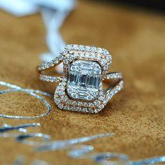 "7 Likes, 1 Comments - petchchompoojewelry (@petchchompoo_jewelry) on Instagram: ""แหวนเพชรประกบ น้ำ 100 ประดับเพชรรวม 1.02 กะรัต จำนวน 97 เม็ด บนตัวเรือนทองพิงค์โกลล์ 6.59 กรัม ราคา…"""