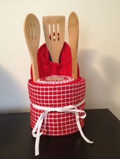 Kitchen Towel Cake, Engagement Gift, Housewarming Gift, Mother's Day Present, Centerpiece, Red, Hand Towels, Kitchen Gift on Etsy, $30.00