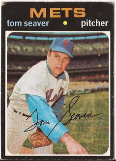 Tom Seaver New York Mets Baseball 1971 Topps Card on the field posing with glove in hand My Mets, Mlb Pitchers, Lets Go Mets, New York Mets Baseball, Baseball Photos, Baseball Stuff, Baseball Cards For Sale, Mlb Teams, Baseball Players
