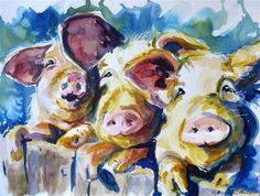 """Wee 3 Pigs 2"" -  P. Maure Bausch"