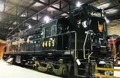 Museu Ferroviário Virtual - Locomotiva da Pennsylvania Railroad (PRR - EUA) classe E-44, de 4.400 HP, fabricada pela GE em 1963