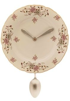 clock made from a paper mache box | Dish Ran Away with the Spoon Clock $52.99