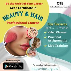 Choosing the right course is the most important step in the Hair and Beauty Career. So what are you waiting for? Join Beauty and Hair Professional Course Online offered by OTE - Online Training and Education through practical assignments, live training sessions and become professional and certified beautician. Google Play, Online Courses, Career, Hair Beauty, Train, App, Education, Waiting, Live