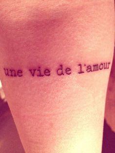 une vie de l'amour / a life of love / una vida de amor