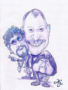 Orival Pessini (homenagem/caricatura Bic sobre papel Canson  )