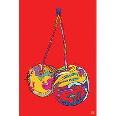 """Mercury Row Cherries Graphic Art on Wrapped Canvas Size: 12"""" H x 8"""" W x 0.75"""" D"""