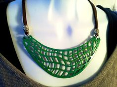 Patina Breast Plate Necklace by SoulfulLeeYours on Etsy, $22.00