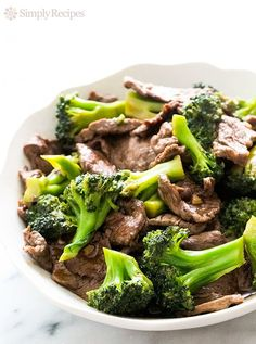 Chinese Broccoli Beef! Takes only 30 minutes from start to finish, so EASY! ~ On SimplyRecipes.com