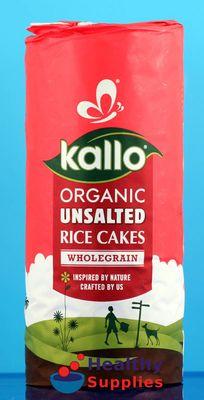Kallo Organic Thick Slice No Added Salt Rice Cakes 130g - HealthySupplies.co.uk. Buy Online.