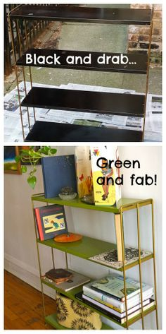 Upcycle: Plant-stand to Bookshelf - we have one of these bookshelves that could definitely use a makeover!