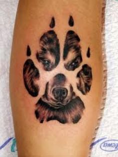 Wolf Paw and Wolf Tattoos for Arm |
