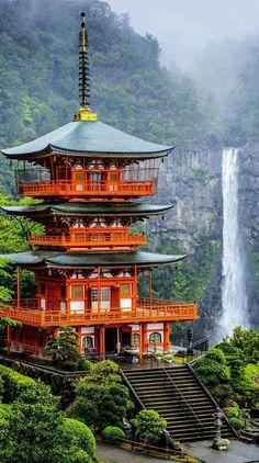 青岸渡寺 和歌山 世界遺産 那智山 那智滝 三重塔 Wakayama Japan Waterfall beautiful nice place Seiganto-ji world Heritage tripletower NachiFalls Nachiyama