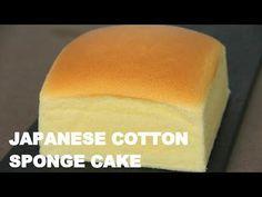 Japanese Cotton Sponge Cake 日式海绵蛋糕 ll Apron Sponge Cake Recipes, Bakery Recipes, Dessert Recipes, Asian Sponge Cake Recipe, Japanese Cotton Sponge Cake Recipe, Japanese Cotton Cheesecake, Japanese Cheesecake Recipes, Food Cakes, Cupcake Cakes