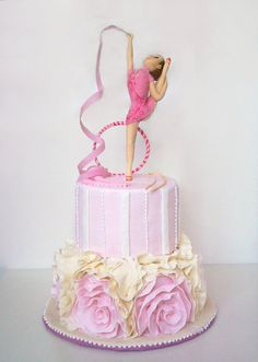 Rhythmic Gymnastics Cake for one young and talented girl.