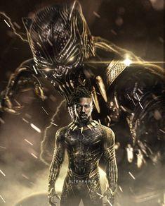"""Erik """"Killmonger"""" N'jdaka in Black Panther Marvel Avengers, Marvel Comics, Marvel Villains, Marvel Heroes, Marvel Characters, Black Panther Marvel, Black Panther Images, Black Panther Art, Black Comics"""