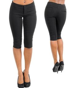 BLACK CAPRI PANTS Small and Large left in stock