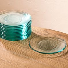 Color Cast Recycled Glass Salad Plates - Set of 6 | VivaTerra