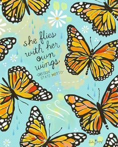 She Flies With Her Own Wings Paper Print by thewheatfield on Etsy