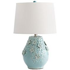 Eire Ceramic Sky Blue Table Lamp
