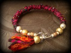 Sari Silk African Brass Ethiopian Beads Glass von YuccaBloom                                                                                                                                                                                 More