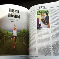 Vinyasa in the vineyard. One Ocean Yoga at Channing Daughters Vineyard in Bridgehampton, NY #Namaste